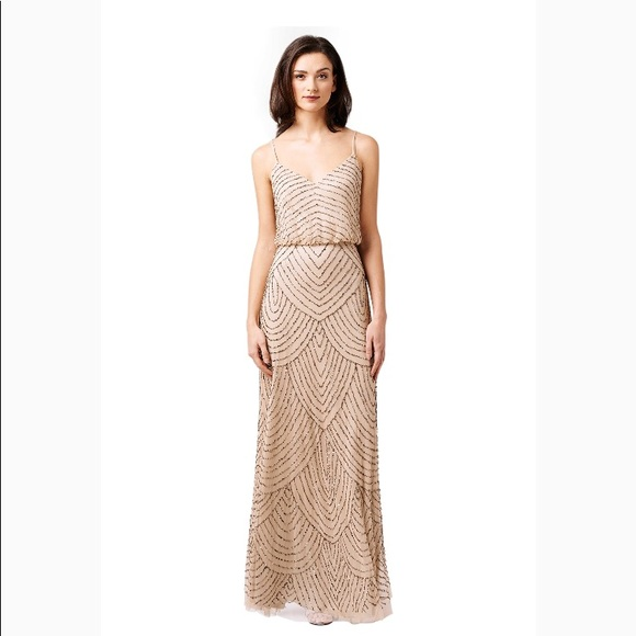 BHLDN Dresses | Adrianna Papell Evening Gown Bridesmaid Dress | Poshmark